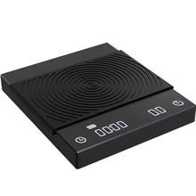 Timemore B22, новая версия, черные зеркальные базовые весы для кофе, кухонные весы с автоматическим таймером для эспрессо и вверх, цифровые