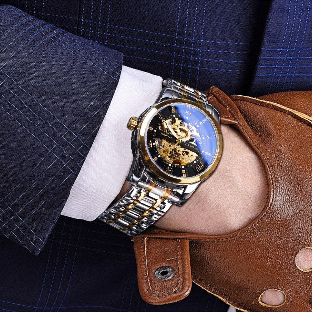 mecânico marca superior relógio automático moda luxo