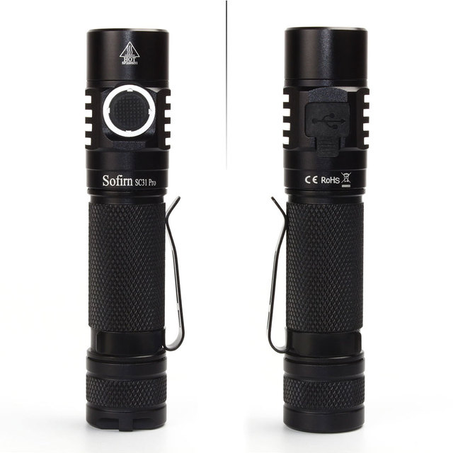 Sofirn New SC31 Pro SST40 2000lm LED Flashlight Rechargeable 18650 Flashlights USB C Powerful LED Torch Outdoor Lantern Anduril 3