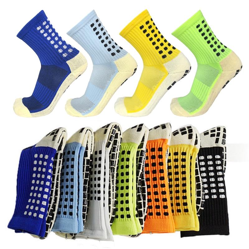 Новые футбольные носки, Нескользящие футбольные носки, мужские спортивные носки, хлопковые носки хорошего качества того же типа, что и Trusox