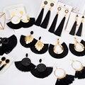Женские богемные серьги LOVR, черные серьги-подвески с кисточками, вечерние ювелирные украшения, 2020