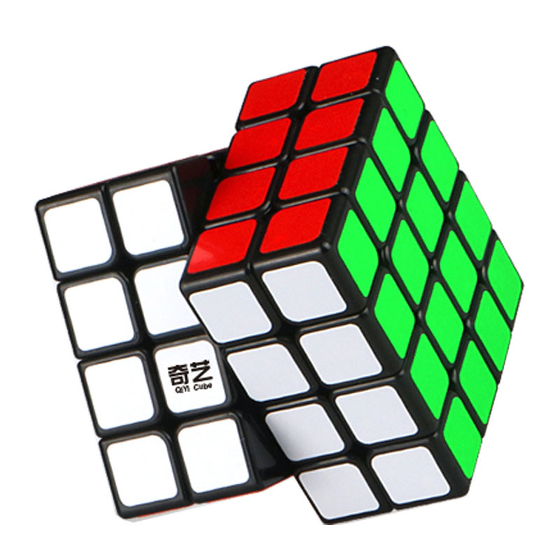 [XMD Rubik's Cube Summary] [Qiyuan Fourth-Order] Magic Cube 4-Order Black And White Version Racing Beginner Smooth Toy