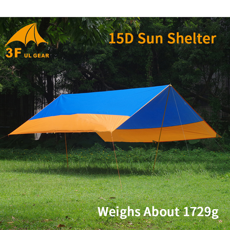 3F UL GEAR Thickening 15D/210T Silver Coating Sun Shelter Outdoor Picnic Waterproof Sunshade Beach Tent Hammock Tarp