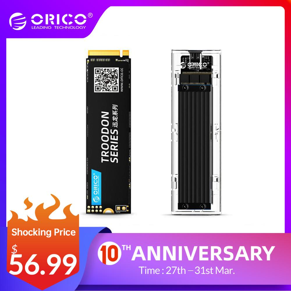 ORICO SSD 128GB 256GB 512GB 1TB M.2 NVME SSD 2280 Mm Internal SSD With Transparent SSD Case M Key External USB3.1 Gen2 10Gbps