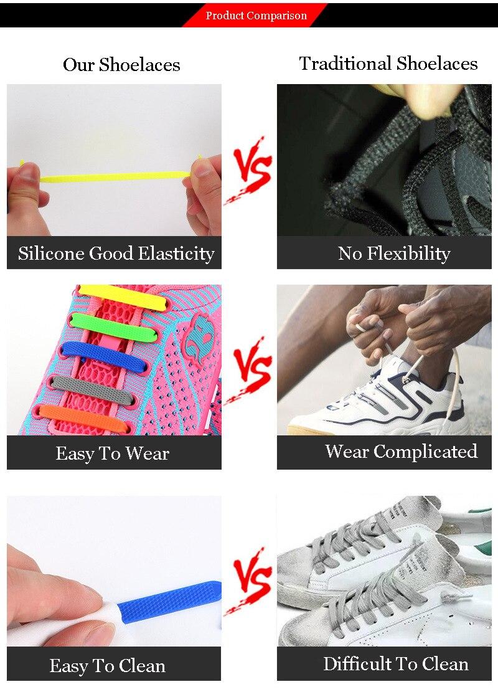 Children Silicone Shoelaces Elastic Shoe Laces Special No Tie Shoelace Men Women Lacing Rubber Kids Sneakers Quick Shoe Lace (11)