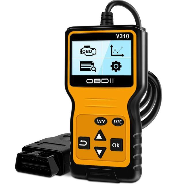 Chegada nova ferramenta de verificação do carro detector v310 scanner diagnóstico universal odb2 verificação do motor scanner obdii