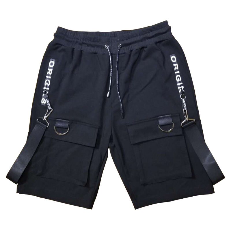 Straight Men Casual Shorts Sport Plus Size Baggy Shorts Cargo Hipster Mens Elastic With Pockets Spodenki Overwatch Pants XX60MS