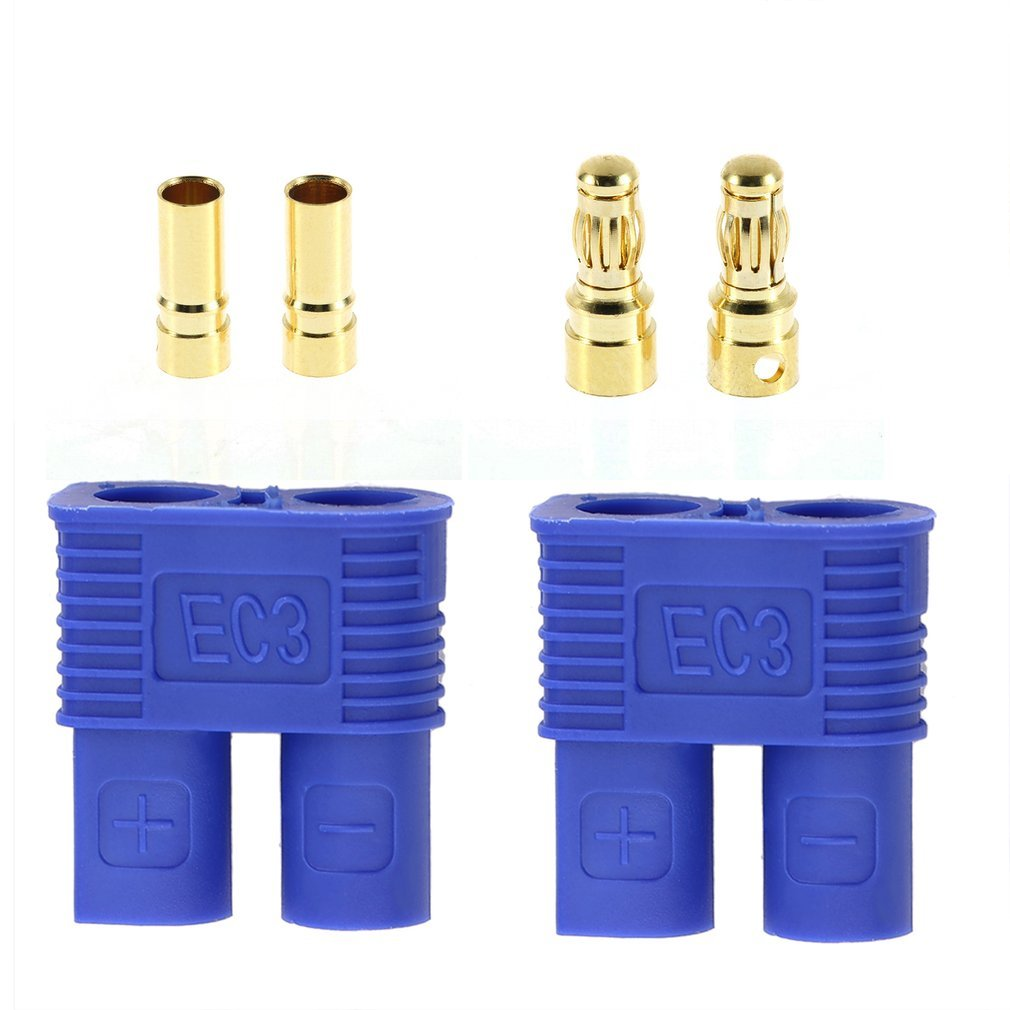 1pairs Male / Female EC3 Style Connector W/ 2pairs 3.5mm Gold Bullet Plug