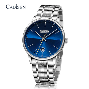 New CADISEN Automatic Mechanical Watches Mens NH35 Watch Men Movement Top Luxury Men Watch Waterproof Sapphire Relogio Masculino cadisen men automatic mechanical watch top luxury brand seiko nh35a movement stainless steel 50m waterproof curved glass watch