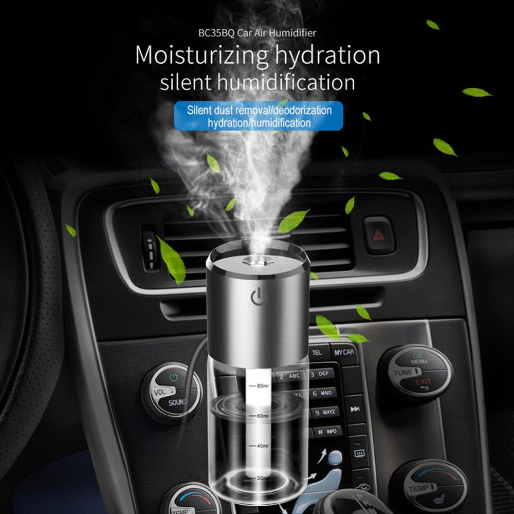 12V Car Air Purifier Auto Air Aromatherapy Spray Humidifier Portable Dual USB Charger Selfcleaning Humidifier For Home Use