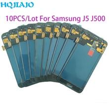 10 جزء/الوحدة اختبار LCD لسامسونج غالاكسي J500 J5 2015 J500Y J500M J500F LCD عرض تعمل باللمس محول الأرقام الجمعية ضبط LCD