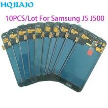 10 adet/grup Test Samsung Galaxy J500 J5 2015 J500Y J500M J500F LCD ekran dokunmatik ekran Digitizer meclisi ayarlamak LCD