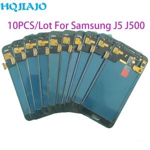 Image 1 - 10 sztuk/partia Test LCD do Samsung Galaxy J500 J5 2015 J500Y J500M J500F wyświetlacz LCD ekran dotykowy Digitizer zgromadzenie dostosuj LCD