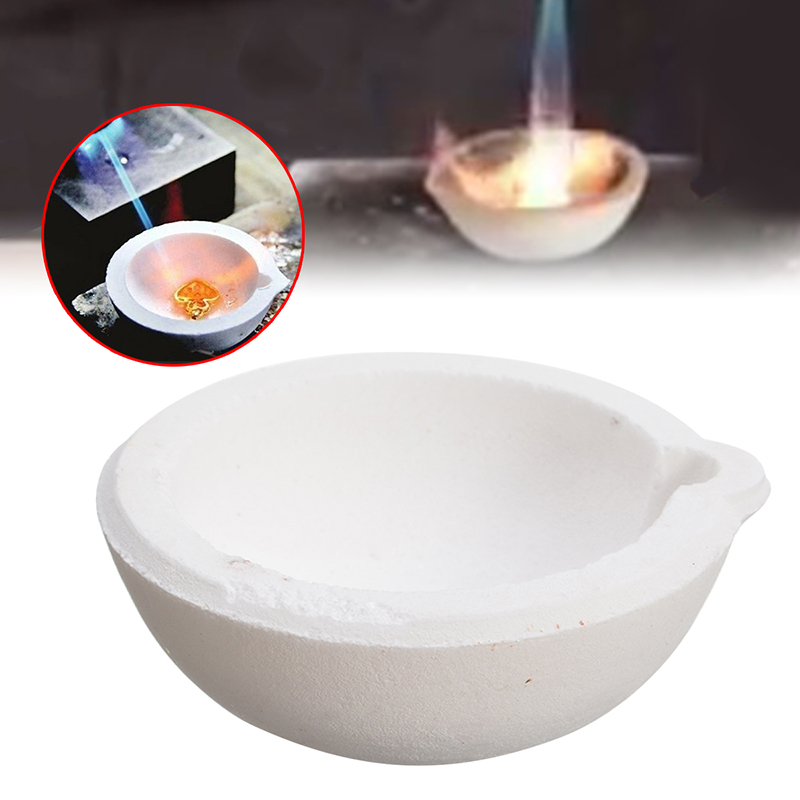 150g Quartz Melting Crucible Silica Melt Dishes Pot Crucible Casting For Gold Silver High Temperature Jewelry Tools