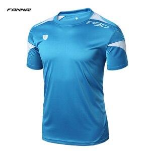 Running Shirt Men Tops Tees Sport O-neck T-shirt Splicing Short Sleeve Gym Training workout Shirts Breathable Sportswear Jerseys(China)