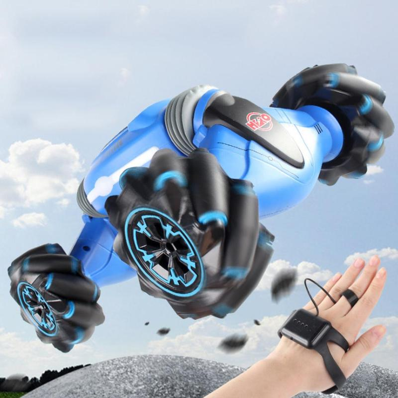 Радиоуправляемая машинка для скалолазания, игрушка, датчик жестов, дистанционное управление, внедорожный автомобиль, двусторонняя барабан... - 2
