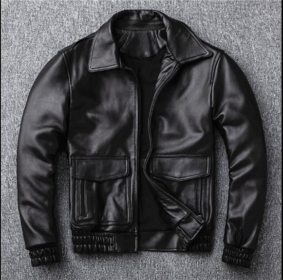 Free Shipping,2019 Sales New Casual Leather Jacket.man Warm Genuine Leather Coat.quality Sheepskin Jackets.motor Jacket