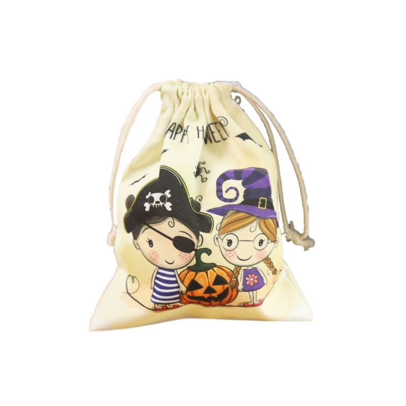 Cute Witches Candy Bag 6 Different Style Funny Halloween Gift Bags Holiday Supplies Creative Trick or Treat Bag Goodie For