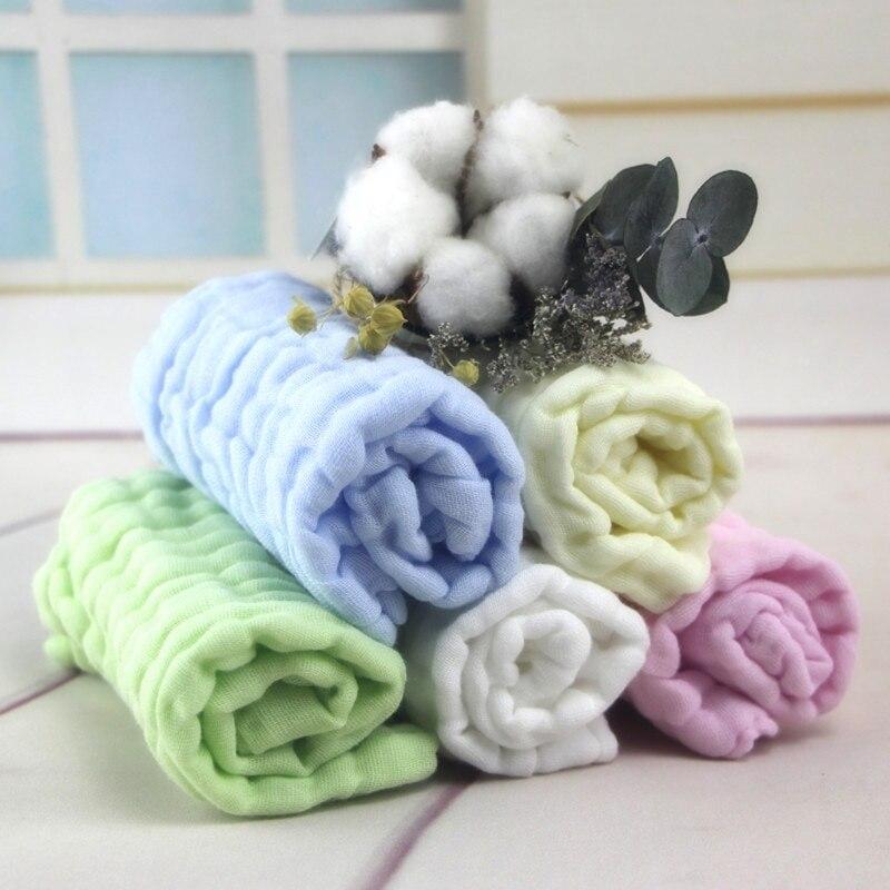 Baby Kid Bath Towel Superfine Fiber Gauze Towels Washcloth Square Towel Children Kitchen Bathroom Wipe Wash Cloth Feeding Cloth