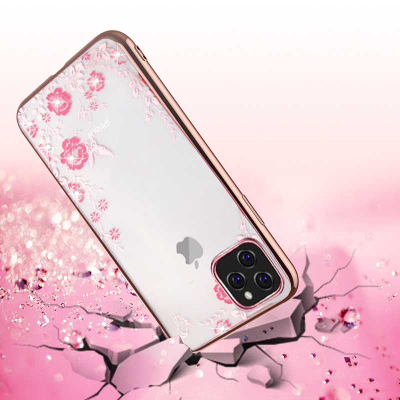 MOESOE Glitter Diamond Flower Case for iPhone 11/11 Pro/11 Pro Max 31