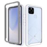 Funda de teléfono transparente para Google Pixel 4, 5, 3A, 4A, XL, 5G, a la moda, resistente al polvo, borde de Color