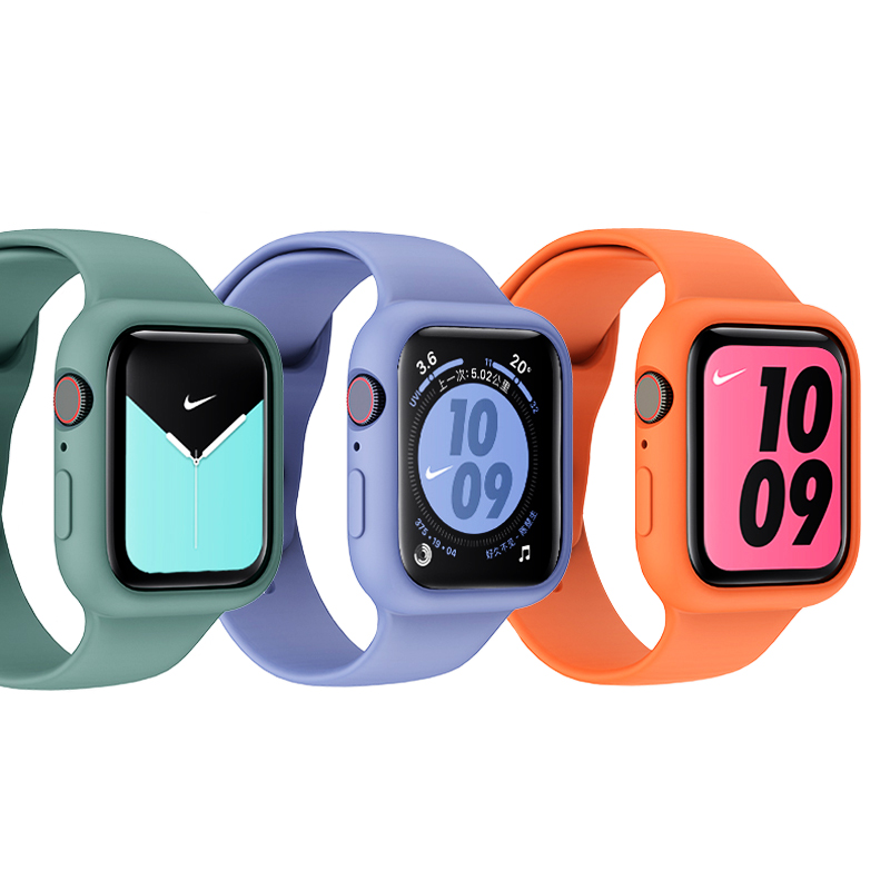 Protector Case For Apple Watch 5/4 44mm 40mm Iwatch Apple Watch 3/2 42mm 38mm Scratch Resistant Shockproof Cover Accessories