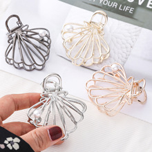 Women Hair Claws Pearl Rhinestone Clips shell Shape Accessories for Daily Use Large Size Ornaments Headwear