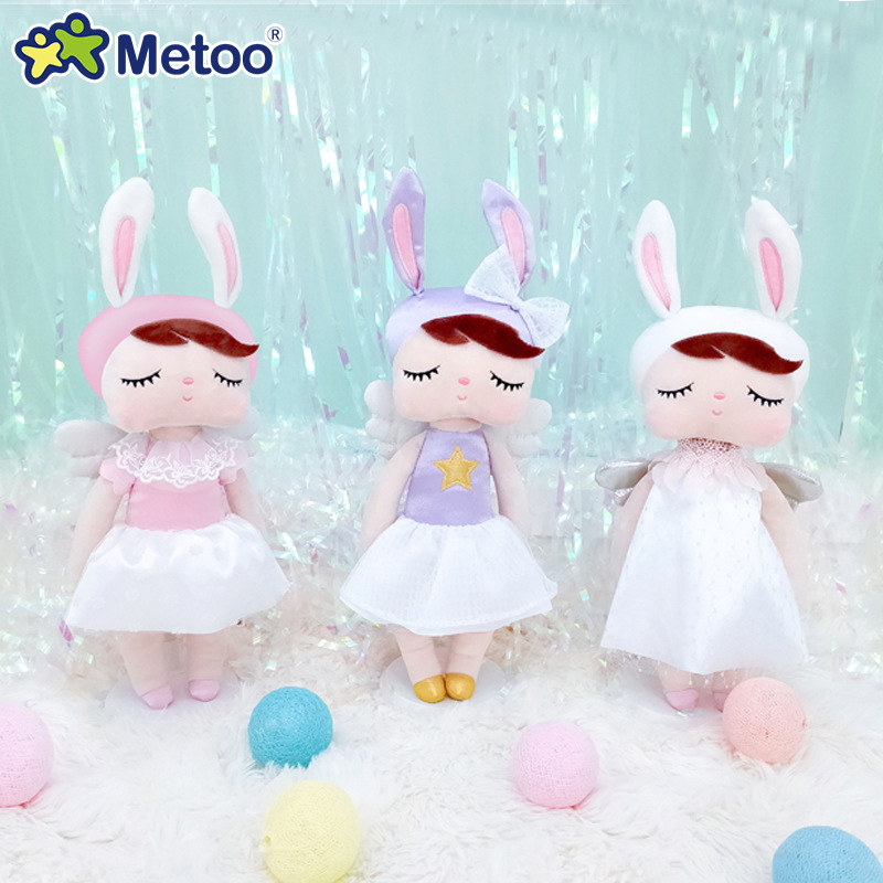 Original Metoo Dolls Stuffed Toys For Girls Infant Baby Cute Rabbit Beautiful Angel Angela Plush Animals For Kids