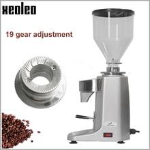 Moulin à café électrique Xeoleo moulin à café Commercial faire fraiseuse en aluminium de café turc avec synchronisation et température