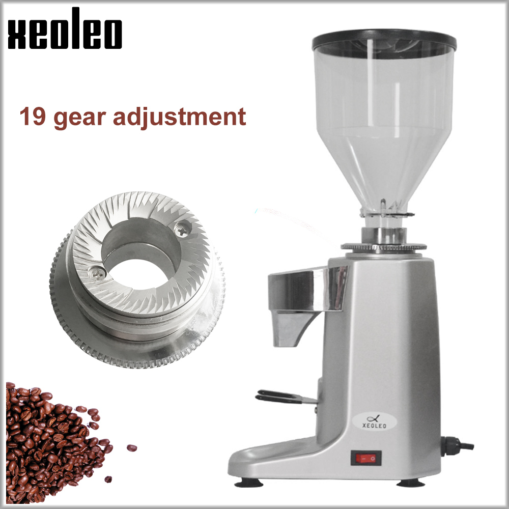 Xeoleo Electric Coffee Grinder Commercial Coffee Miller Make Turkish Coffee Aluminum Milling Machine With Timing&Temperature