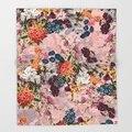 Розовый скандинавский летний ботанический сад плед для дивана для пешего туризма пикника одеяло для путешествий дома Флисовое одеяло для д...