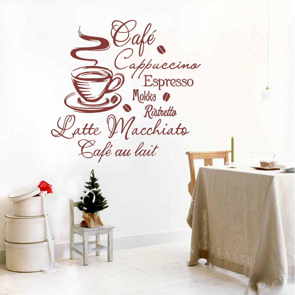 Cafe Wall Stickers Cake Vinyl