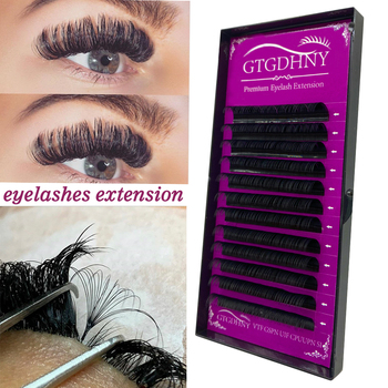 Individual Eyelash Extension Faux Mink False Eyelashes Artificial lashes For Makeup HandMade Natural Lash extension Supplies 1