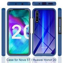 Para honra 20 8a caso para huawei y6 y7 y8s y9 p30 p40 prime 2019 honra 8a 20 capa tpu amortecedor caso claro anti choque silicone telefone