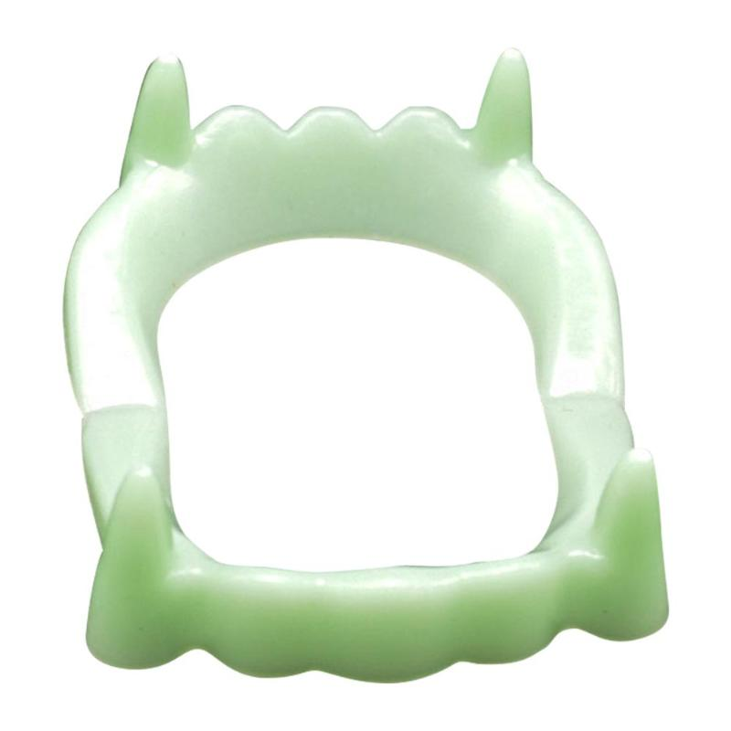 Luminous Vampire Fake Teeth Toy For Halloween Party Children Night Glow Prop Masquerade Tricky Toys Cosplay Funny Makeup Denture