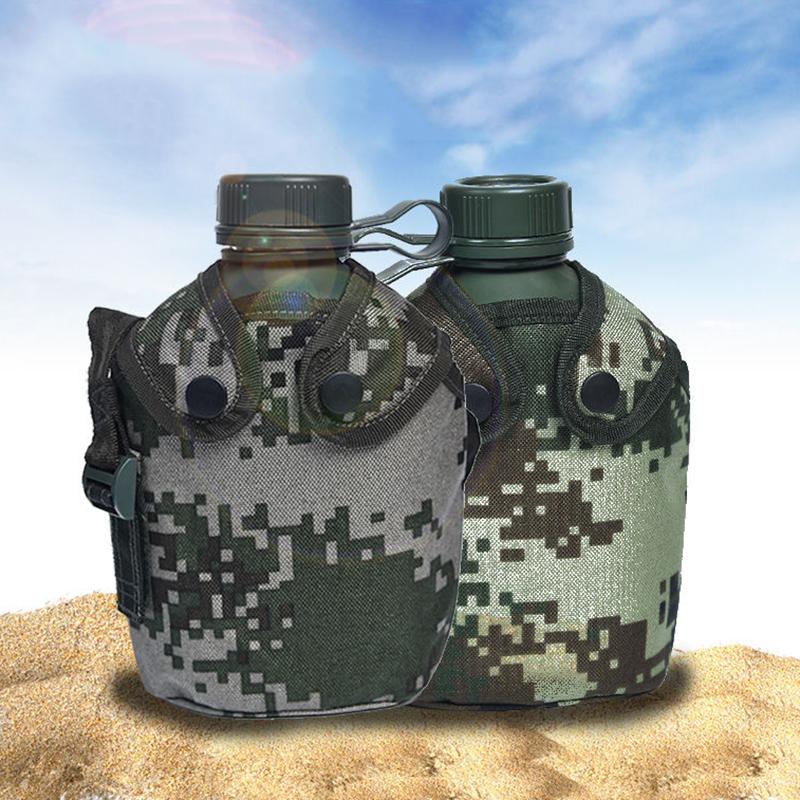 ENERGE SPRING 1L Classic Army Fan Bottles New Camouflage Kettle Outdoor Sport Bottle with kettle bag Portable water bottle