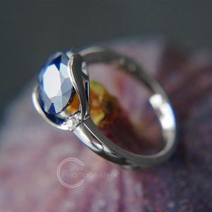 Image 4 - GEMS balet nowy 3.24Ct naturalny błękitny szafir pierścienie prawdziwe 925 Sterling Silver klasyczny owalny pierścień dla kobiet rocznica fajny prezent