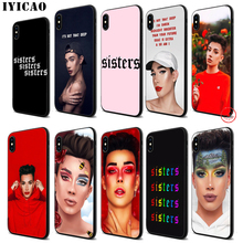 IYICAO James Charles Soft Black Silicone Case for iPhone 11 Pro Xr Xs Max X or 10 8 7 6 6S Plus 5 5S SE