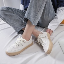 Women Sneakers Leather Shoes 2020 New Casual Flats Sneakers Women's Fashion Trend White Comfortable Vulcanize Shoes Female