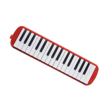 Musical-Instrument Piano Harmonica Melodica 32 with Mouthpiece Keys ABS Blowpipe Flexible