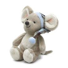 ¡Candice guo! Bonito juguete de felpa adorable ratón de dibujos animados 2020 rata de zodiaco chino suave muñeca de peluche cumpleaños regalo de Navidad 1 pieza