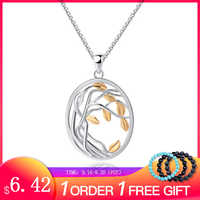 SA SILVERAGE 925 Sterling Silver Tree of Life Pendant Necklaces for Women Gold Color Silver Long Maxi Chain Necklace Chokers