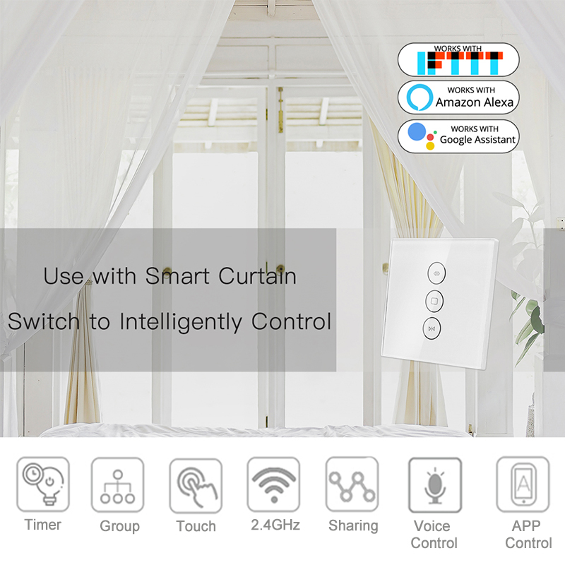 Image 3 - 35mm Tubular Motor Roller Blinds Shutter Motor 110V 220V Electirc Smart Wifi Curtain Motorized Rolling Blinds Tuya Smart Home-in Automatic Curtain Control System from Home Improvement