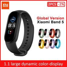 Xiao mi mi Banda 3 4 versão Global Inteligente Pulseira Pulseira De Fitness Heart Rate watch Band 3 Mensagem de Grande Tela de Toque tempo Smartband