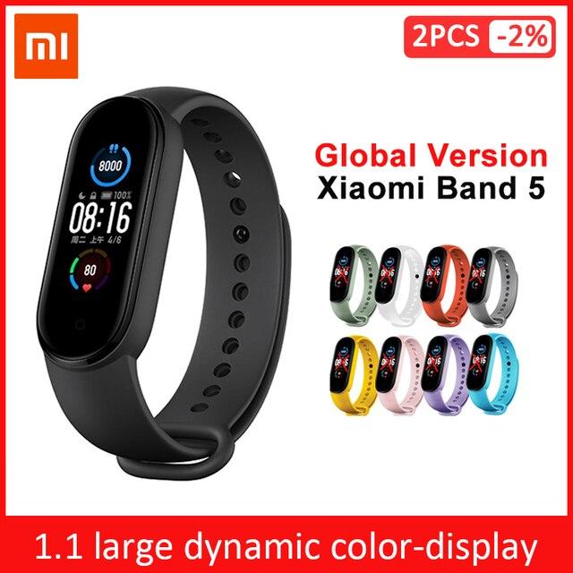 שיאו mi mi Band 3 4 הגלובלי גרסה חכם צמיד כושר צמיד להקת שעון 3 גדול מגע מסך הודעה קצב לב זמן Smartband