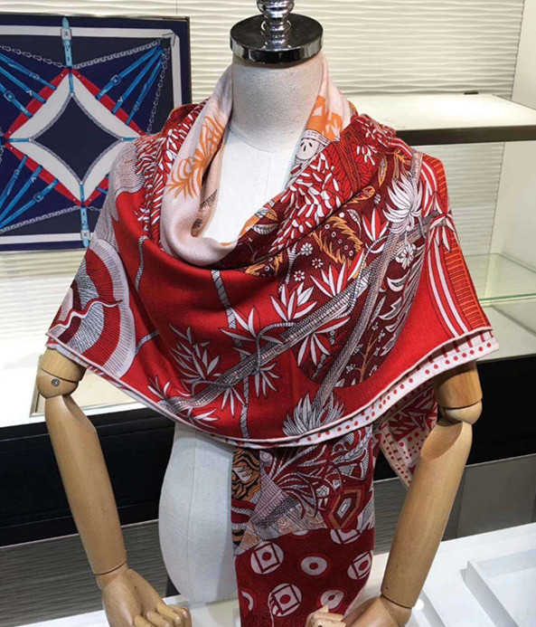 2020 New Arrival  Winter Autumn Sun Colorful 70% Cashmere 30% Silk Scarf 140*140 Cm Big Warm Shawl Wrap For Women Lady Girl
