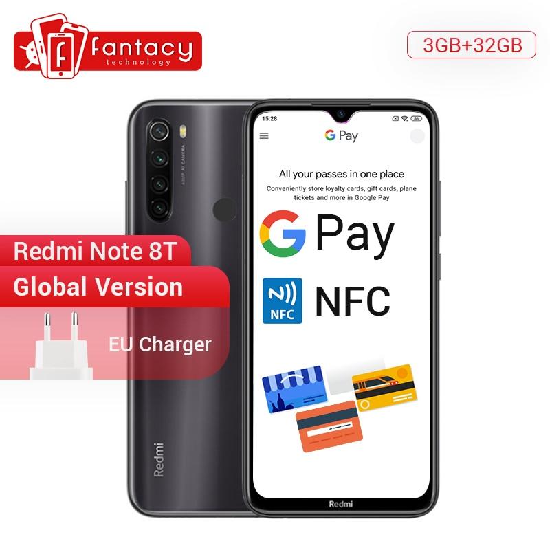 New Arrival Global Version Redmi Note 8T 8 T 3GB RAM 32GB ROM Phone Snapdragon 665 6.3'' FHD+ Display 48MP Quad Camera NFC 18W