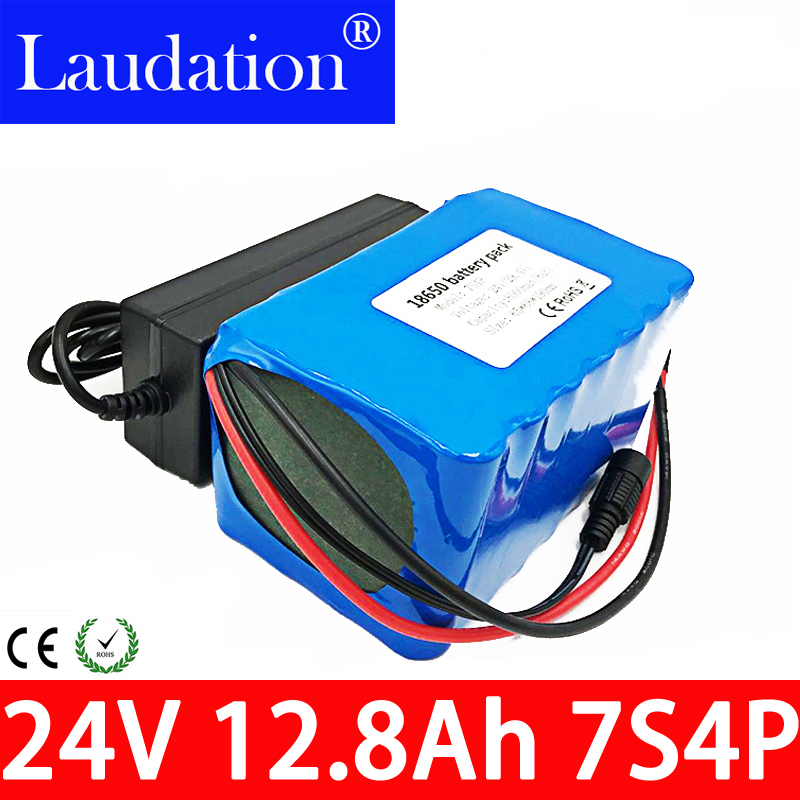 <font><b>24</b></font> <font><b>V</b></font> 12.8ah Lithium Ion <font><b>Battery</b></font> 15A BMS 250W 24V 350W Batteria Pack for electric bicycle Motor Kit Electric Power + 2A Charger image