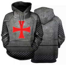 3D מודפס אבירי שריון טמפלרים חולצות Streetwear הסווטשרט ארוך שרוול סוודר הסווטשרט