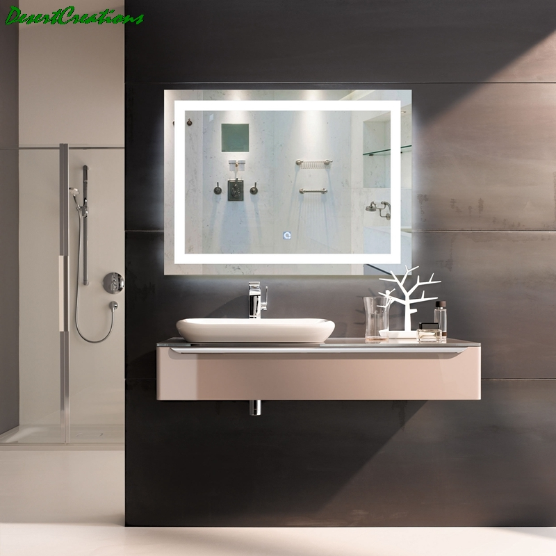 New LED Bath Mirrors Bathroom Vanity LED Lighted Mirror Wall Mounted Lighted Makeup Mirror For Home Bathroom 1